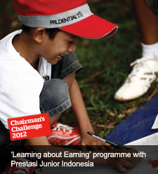 'Learning about Earning' programme with Prestasi Junior Indonesia