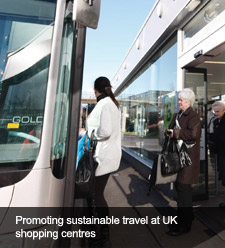 Promoting sustainable travel at UK shopping centres